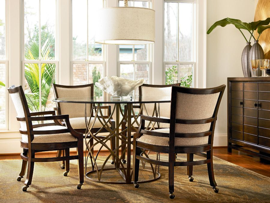 Latitude Round Dining Table And Arm Chairs With Castors See This