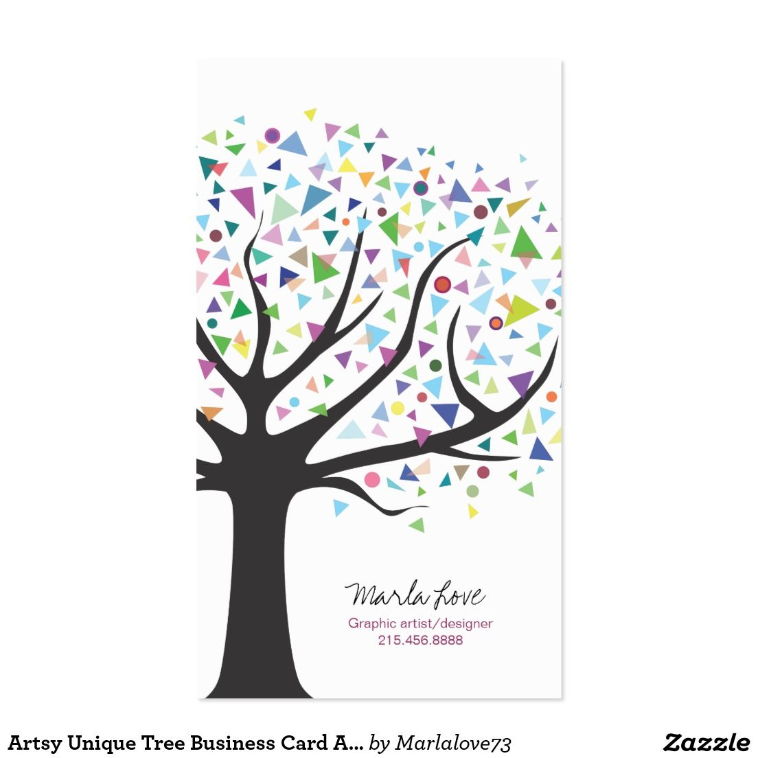 Artsy Unique Tree Business Card Art designer | Pinterest | Artsy
