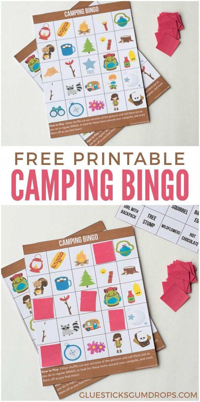 Taking the kids camping? This free printable Camping Bingo ...