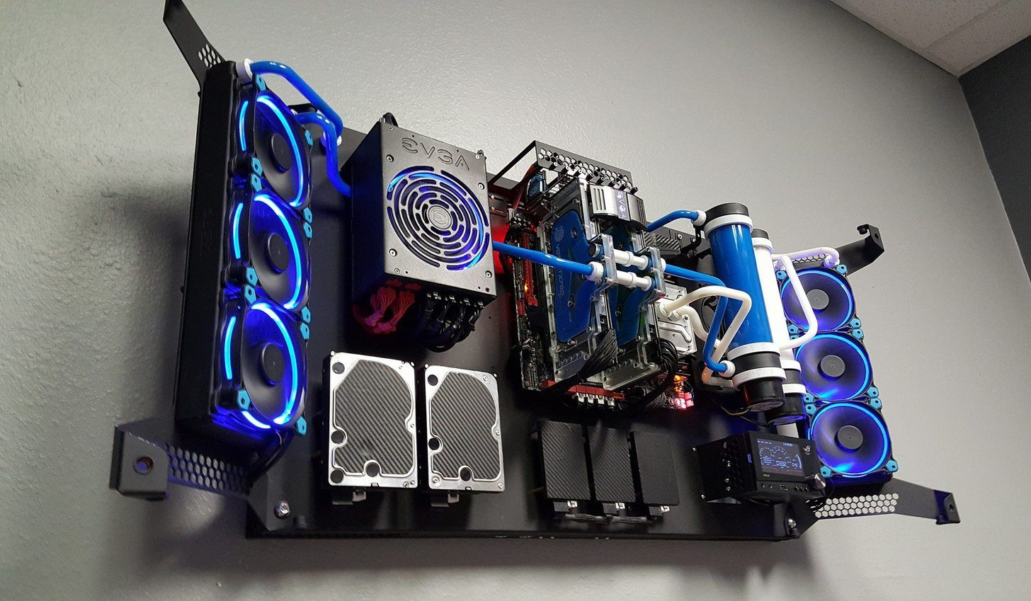 Evolution Of Feros wall mounted PC case  PC Rigs  Wall mounted pc Wall computer Computer build