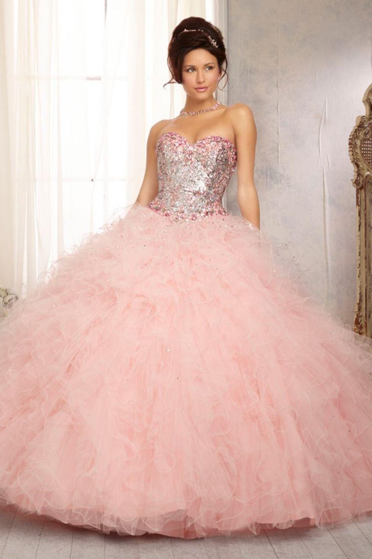 40 Vestidos de 15 años largos y cortos en color rosa | precio ...