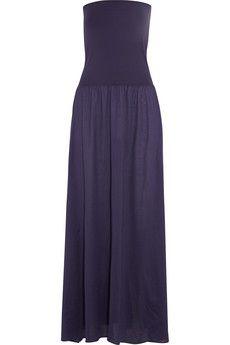 Zephyr Ankara Cotton-jersey Maxi Dress - Turquoise Eres xu6V3JN