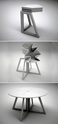 Some foldable dining tables can be used as a small corner table when not being used in its full form.