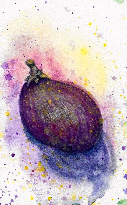 "Plein Air Watercolor ""Fig"" Painting by ashleygallery on Etsy"