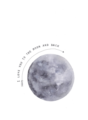 Moon Art Print by Kruth Design