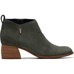 Toms Grüne Suede Leilani Kurze Stiefel Für Damen - Größe 37.5 TomsToms #booties