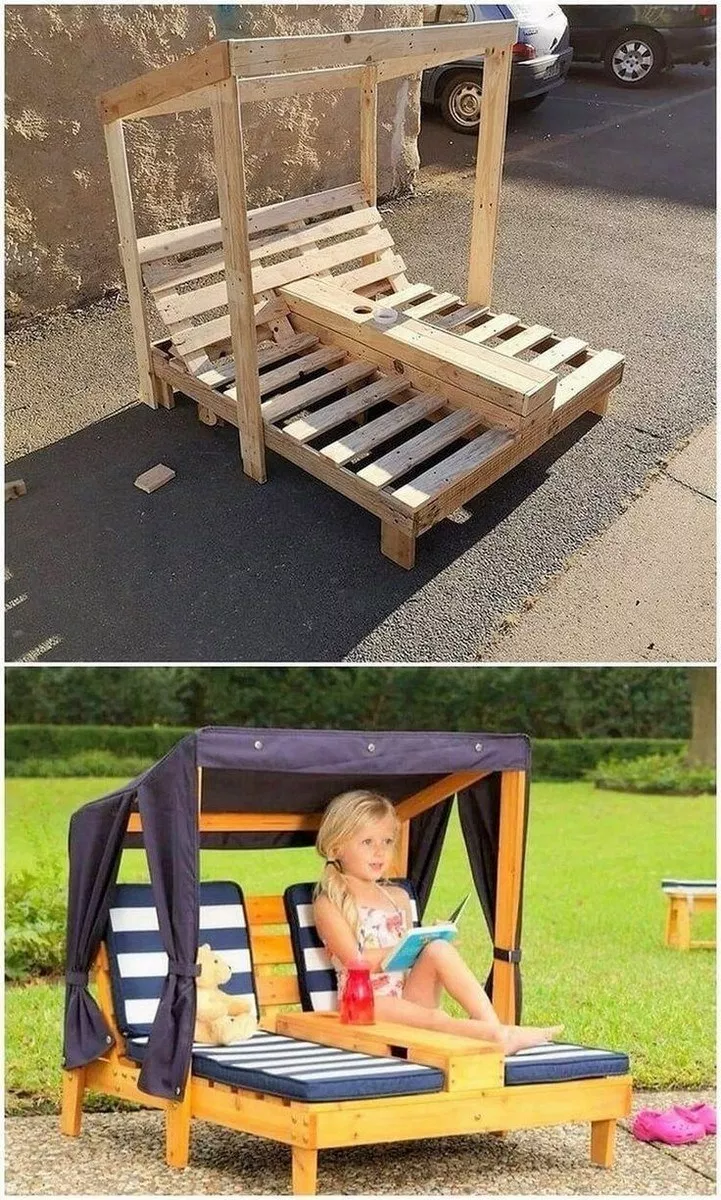 37 cute upcycled pallet projects for kids outdoor fun 8 ...