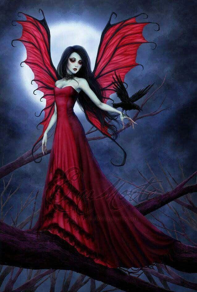 Dark Angels Love This Fairies Red Artwork Darkness Goth Beautiful Beauty