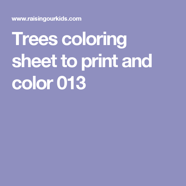 Trees coloring sheet to print and color 013