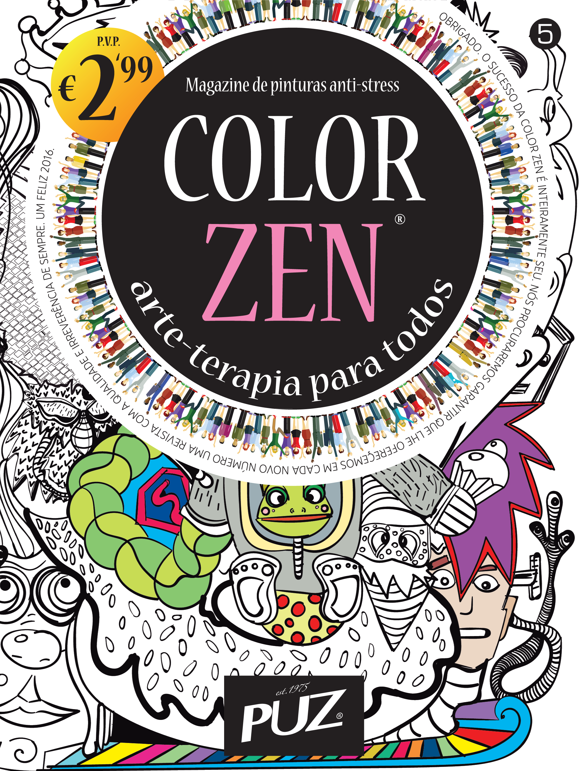 Color zen magazine - Color Zen Nr 5 Magazine De Pinturas Anti Stress Da Puz Arte