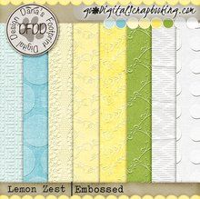 Lemon Zest Embossed Papers | August 16 Mixology