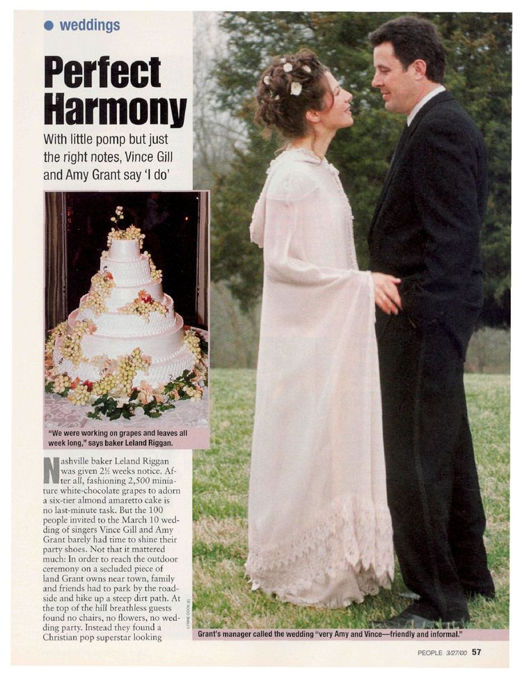 Perfect Harmony Amy Grant Vince Gill Celebrity Wedding