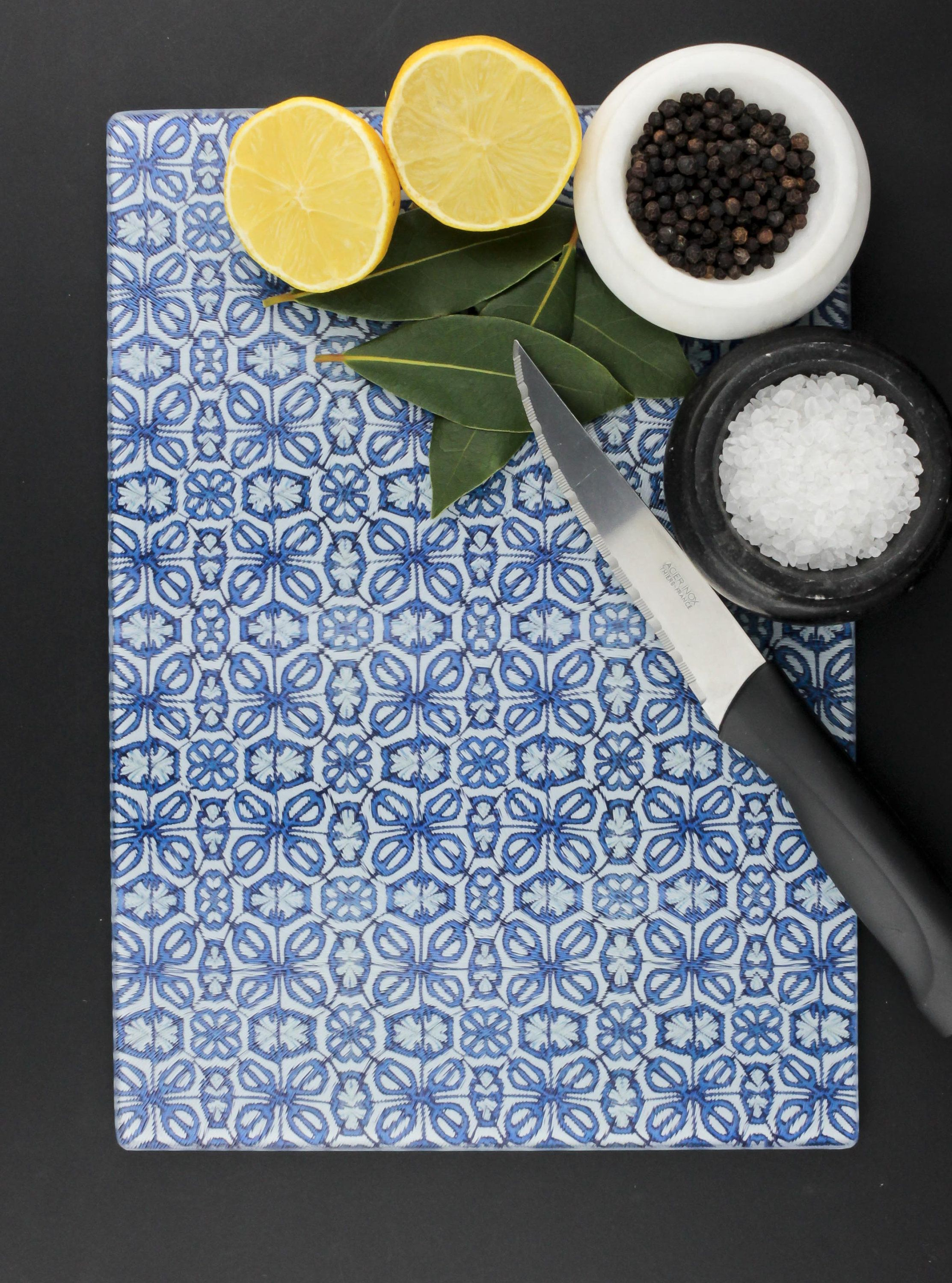 Turkish Flower Pattern Cutting Board, Kitchen Trivet, Worktop Saver ...