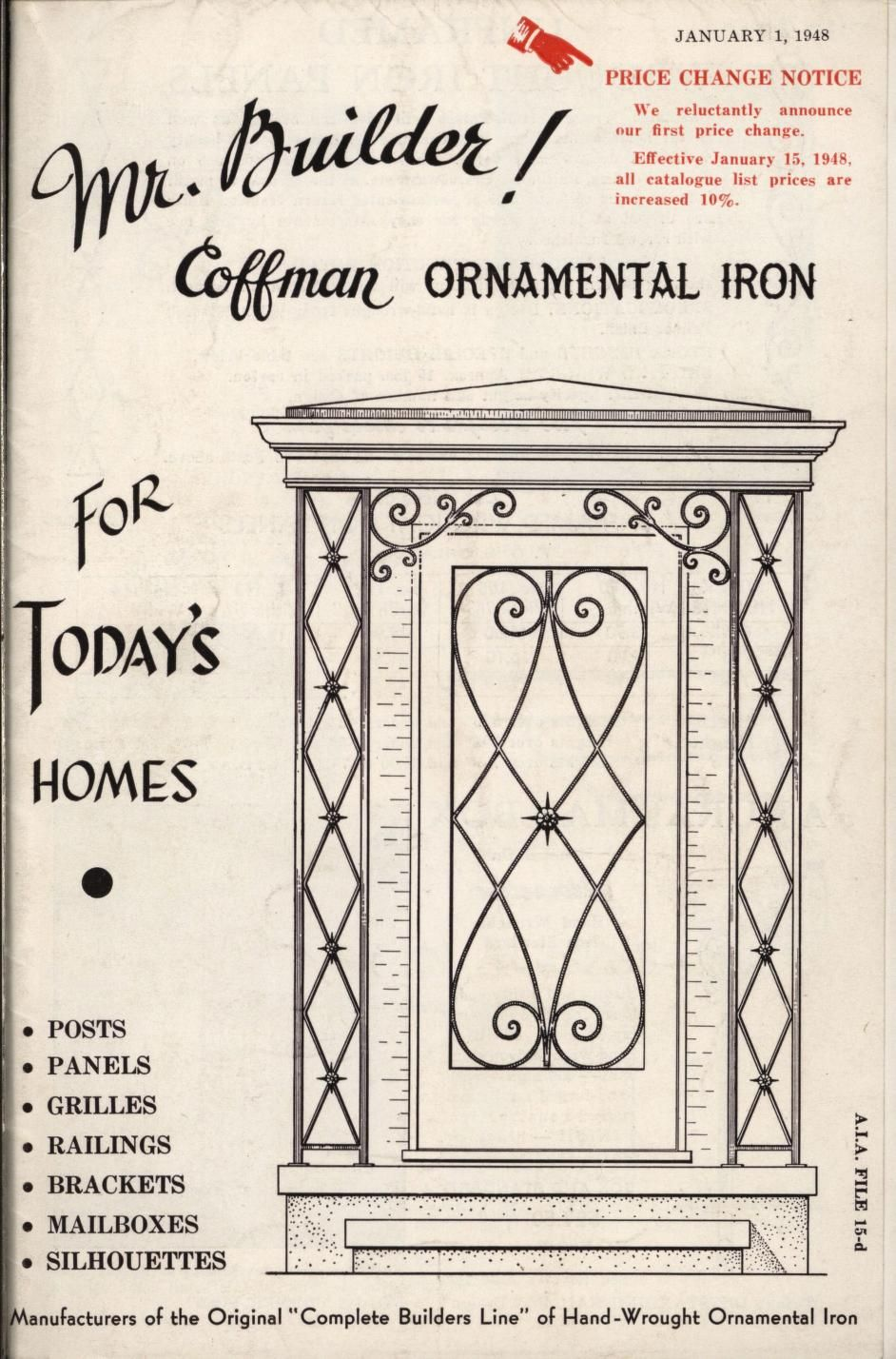 Mr. builder! Coffman ornamental iron for today'...