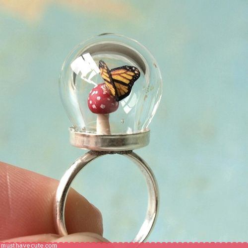 This ring would be BAD.ASS. if it were a snowglobe too!