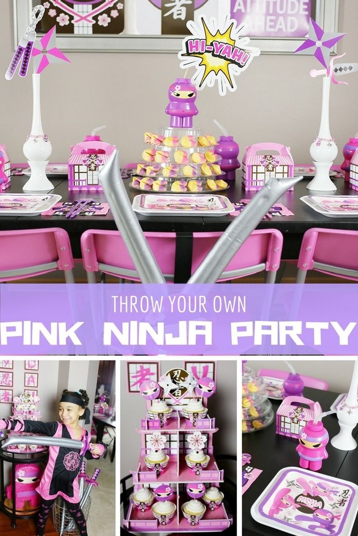 Looking For A Girls Birthday Party Idea Hi Yah Shell Love This Pink Ninja From Soireeevents See All The Details