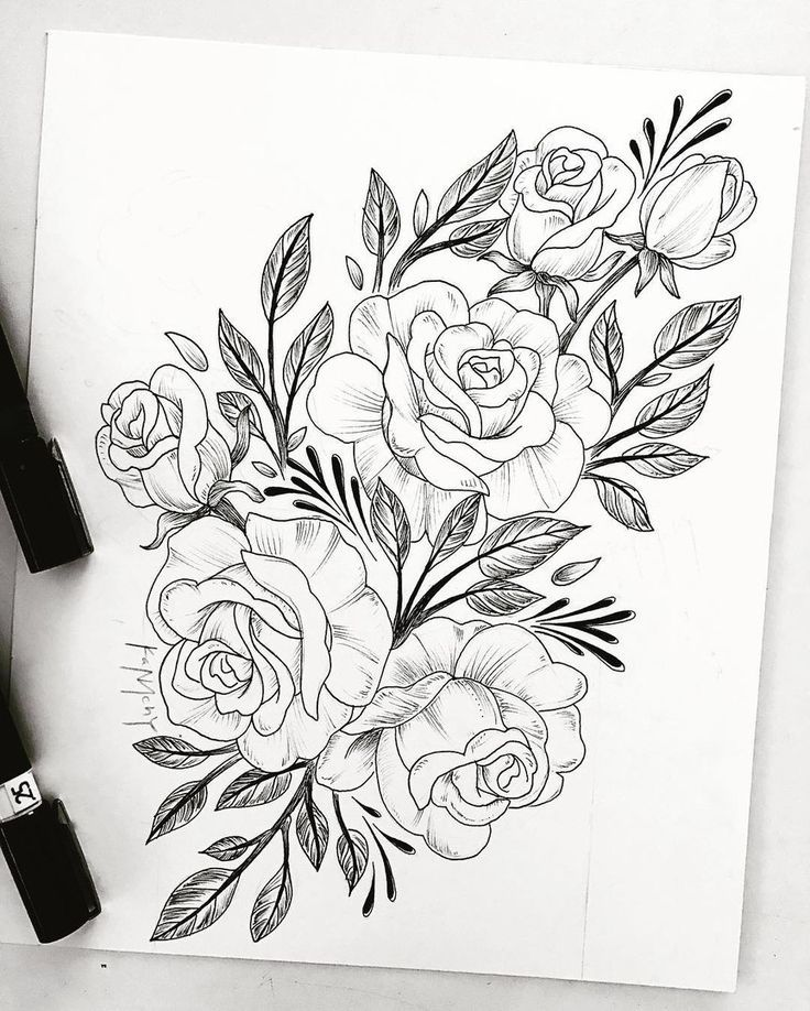drawing tattoo flower tattoo sleeve tattoos flower tattoos ...
