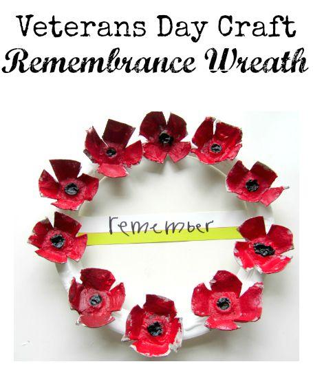 Veterans day craft poppy wreath wreaths and craft for Veterans day poppy craft