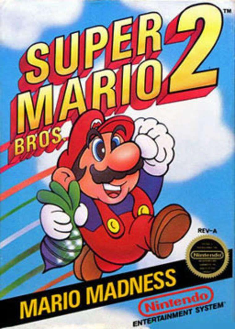 Super Mario Bros 2 Nes Box Super Mario Bros Nes Games Mario Games