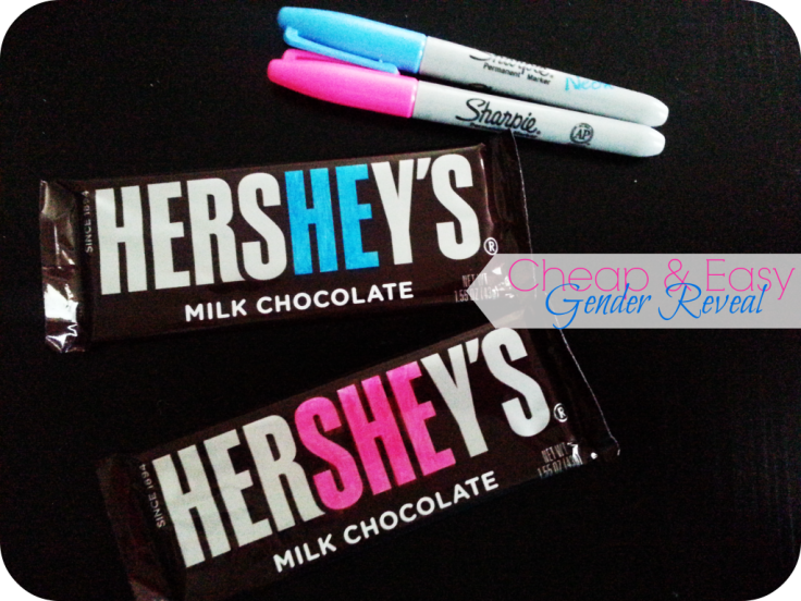 Pink or blue chocolate bars