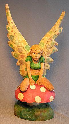 Fairy sitting on a Mushroom $125.00