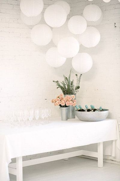 Official After Party Engagement Party Decorations White Party