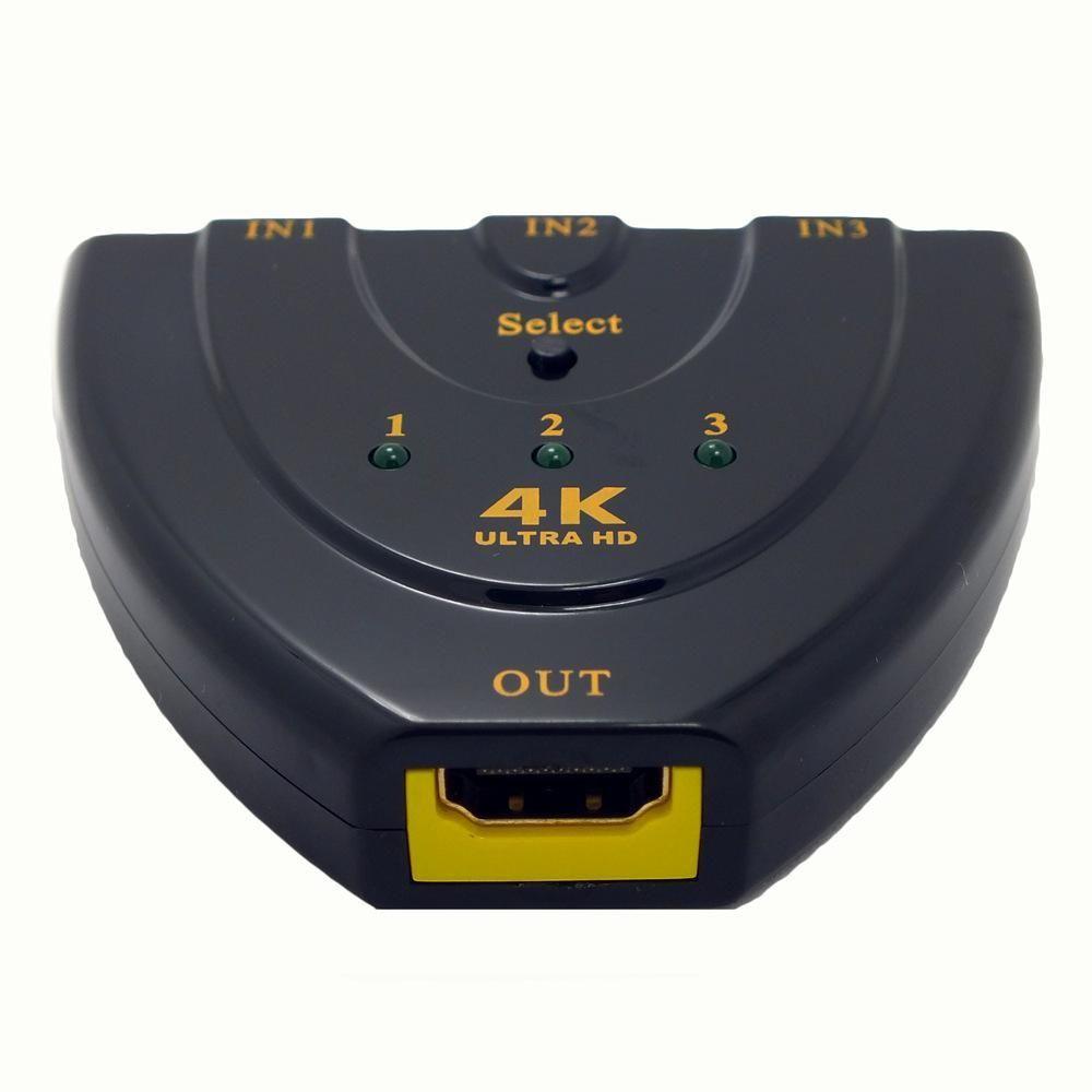 4K*2K 3D Mini 3 Port HDMI Switch 1.4b 4K Switcher   Hdmi splitter ...