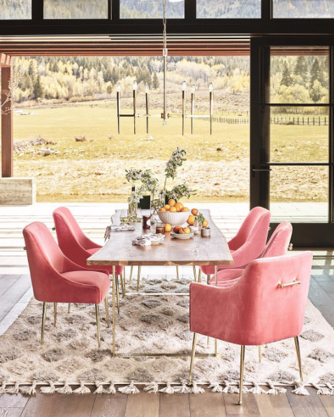Anthropologie Fall House And Home 2016 Collection Dining Room Chairs Pink Rooms Oak