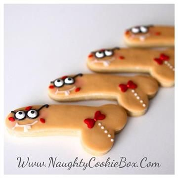 The Naughty Cookie Box | Delicious Treats with a Naughty Twist! Once You Go Nerd Penis Cookies! Www.NaughtyCookieBox.Com Complete with a bow tie, glasses and buck teeth! It will be hard to keep those lips off of this 'Adorkable' Nerdy Penis Cookie.