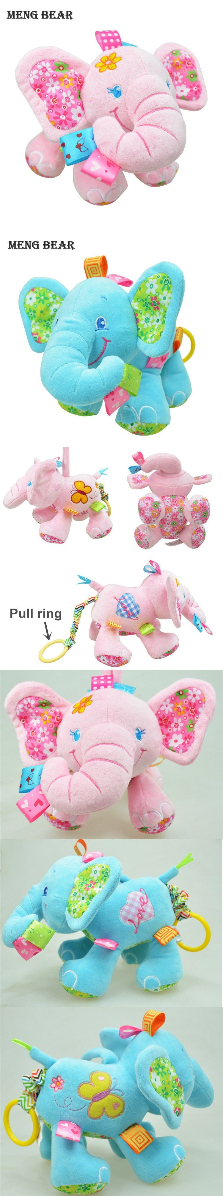 Sozzy Newborn Baby Hanging Toys Cute Animal Elephant Pull Bell