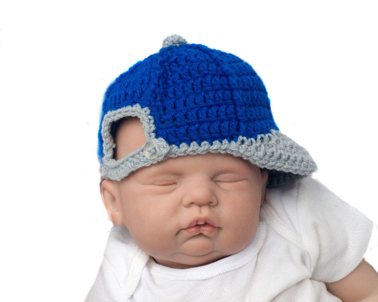 baseball baby boy baby baseball crocheted royal blue