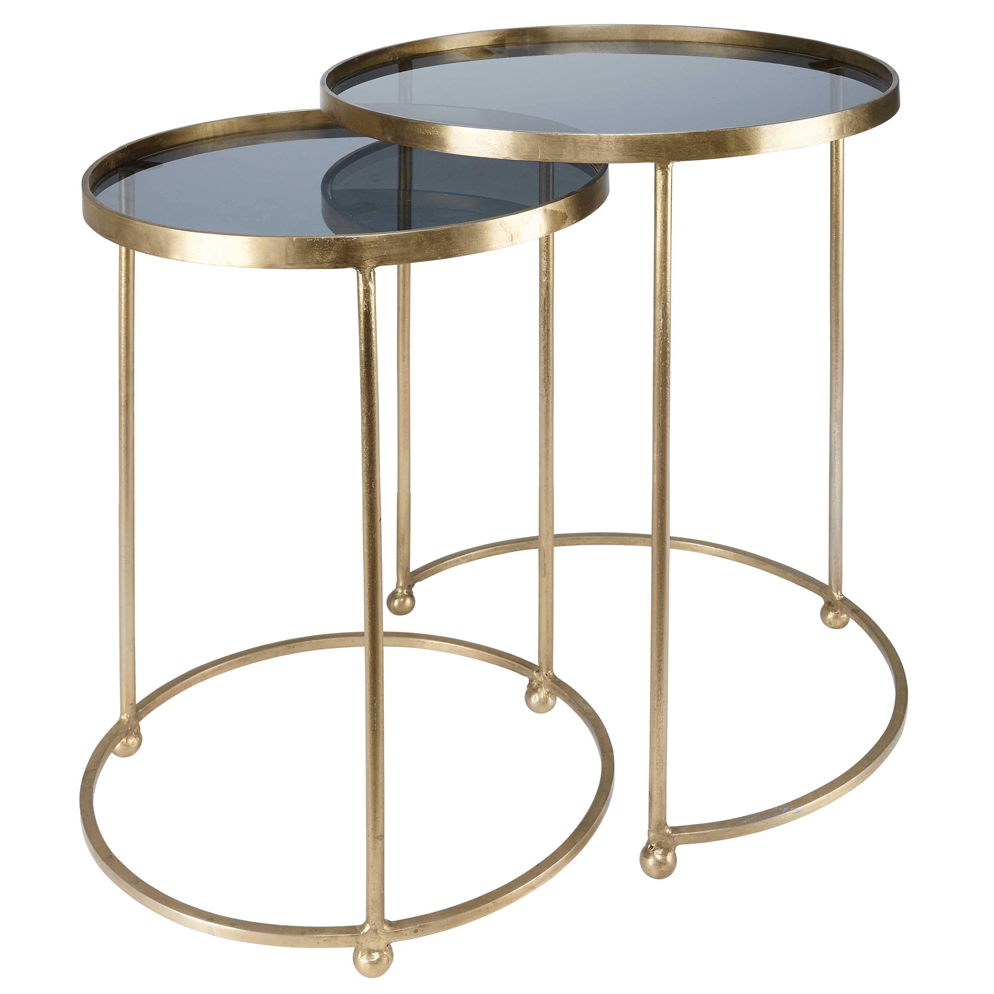 2 Beistelltische Aus Goldfarbenem Metall Und Glas Isabeau Jetzt Bestellen Unter Https Moebel Ladendirek Beistelltische Beistelltisch Metall Wohnzimmertische