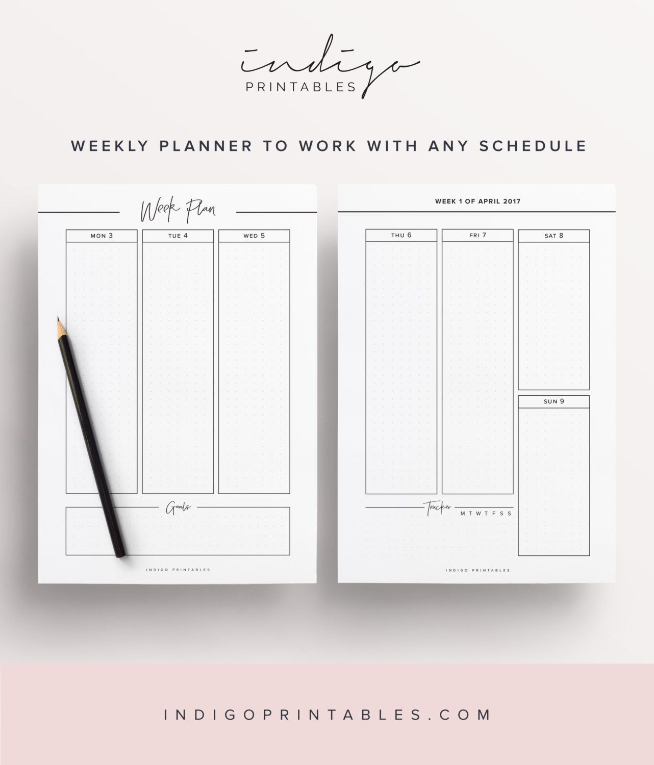 Mid Year Printable Planner 160 Pages