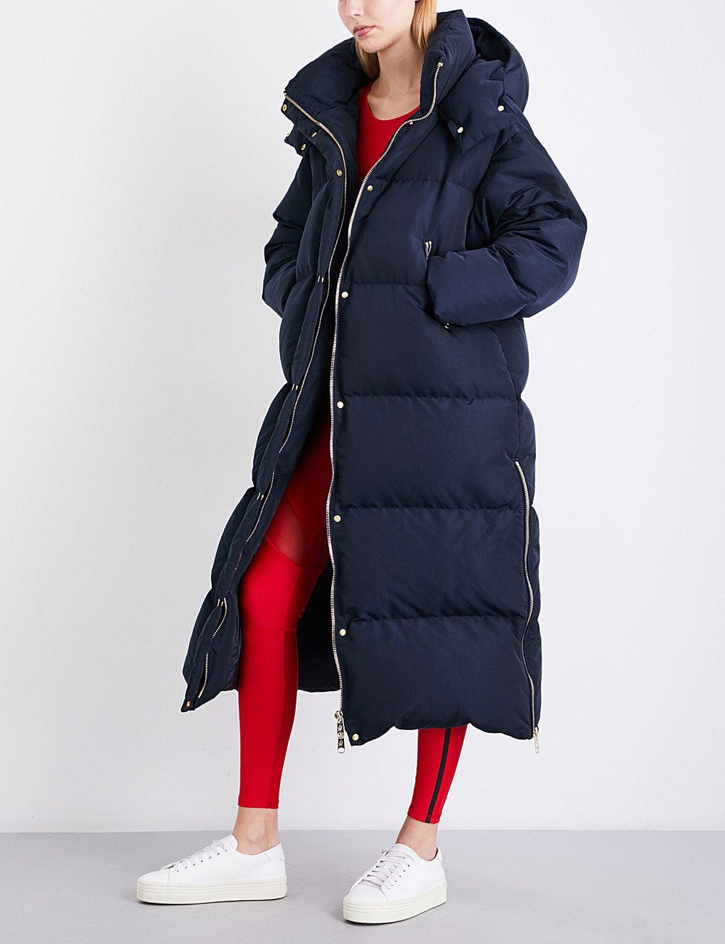 a6eef2af7 Tommy Hilfiger x Gigi Hadid oversized padded hooded shell coat ...