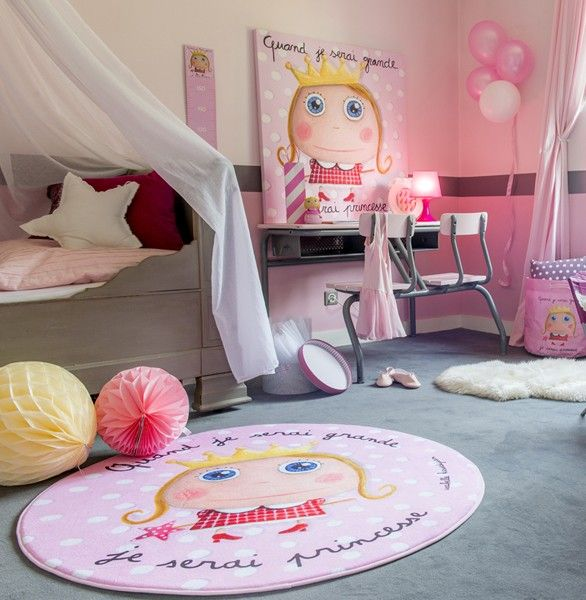 chambre enfant fille princesse tapis sac jouets. Black Bedroom Furniture Sets. Home Design Ideas