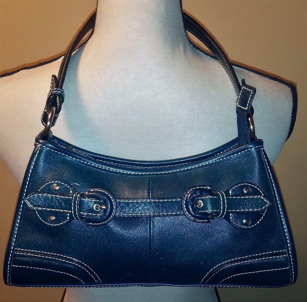 Wilson's Leather Navy Blue Purse Handbag Shoulder Bag