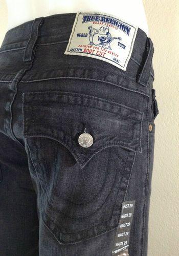 fc4113a13a4 Men's True Religion Jeans Boot Cut 29x34 Low Flap Back Pockets Bootcut  $129.99