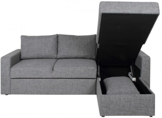 Superior Delaware Lux Modern Sofa Bed Corner Chaise Grey (Sofabed) | Image 2