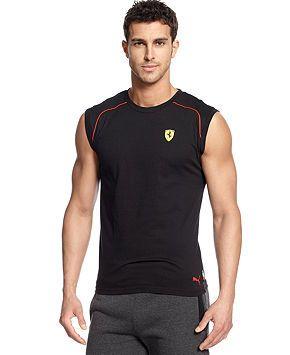3ec09bc92bd Puma Scuderia Ferrari Sleeveless T-Shirt - Activewear - Men - Macy's ...
