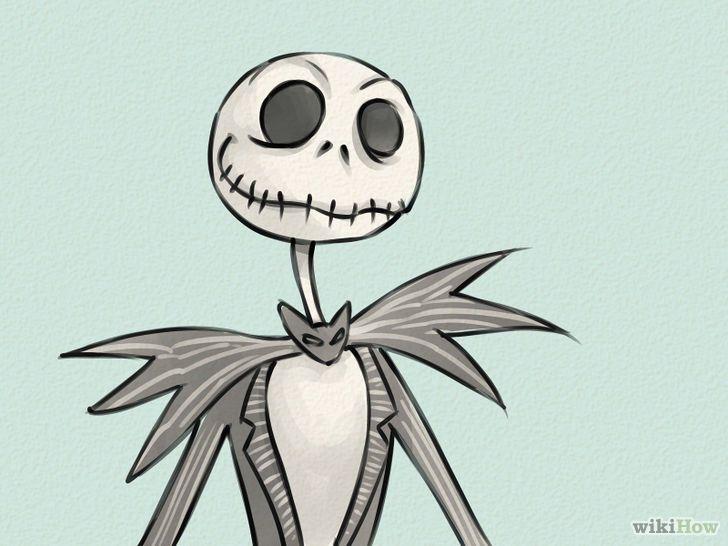 728px Draw Jack Skellington Step 11 Jpg 728 546 Dibujo De Navidad Como Dibujar Cosas Arte De Tim Burton
