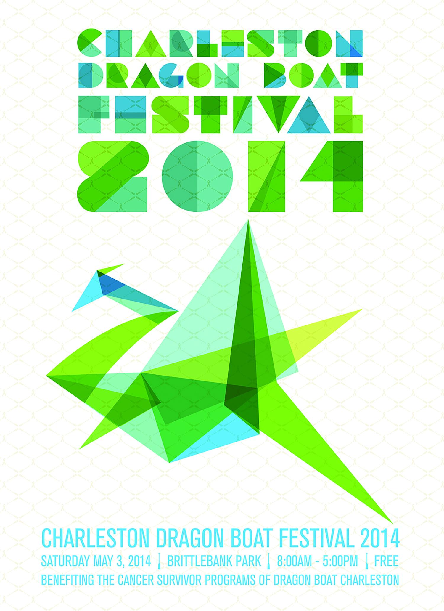 7Th Annual Charleston Dragon Boat Festival Poster Anne Herford Design,