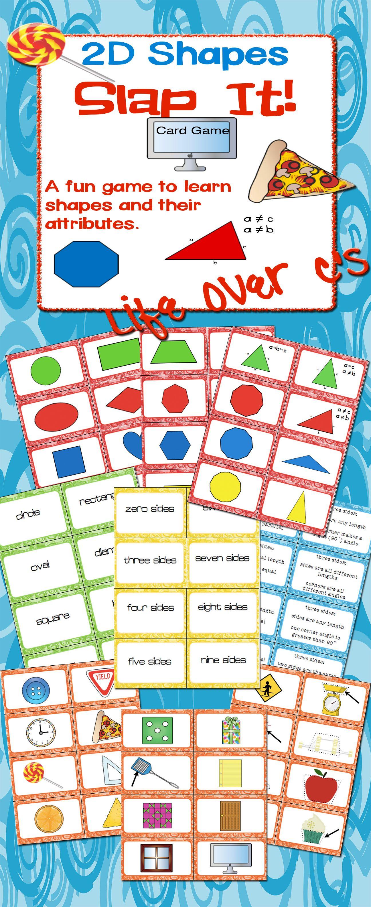 2d Shape Slap It Card Game Math Center