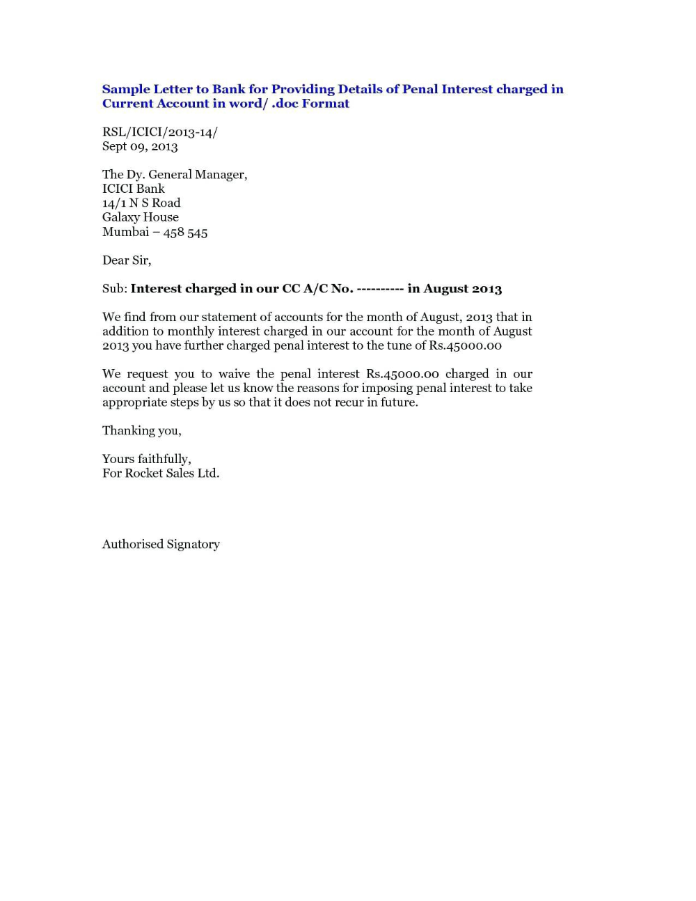 Business Correspondence Complaint Letter Example For Road