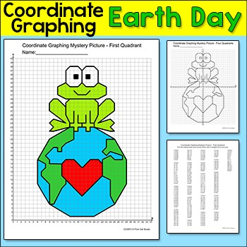 Earth Day Math Coordinate Graphing Ordered Pairs Mystery Picture Coordinate Graphing Coordinate Graphing Mystery Picture Coordinate Graphing Pictures