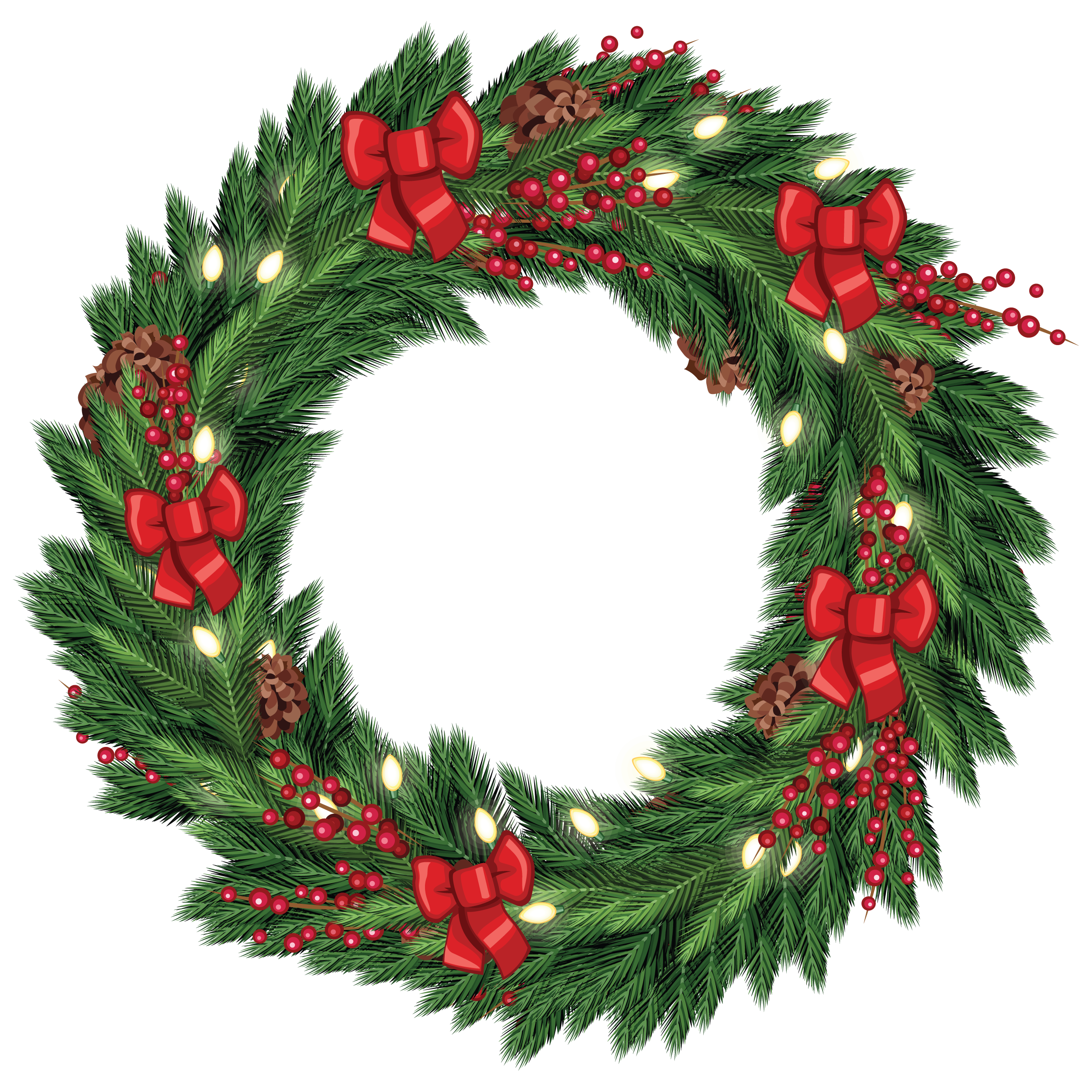 Free Christmas Wreath Graphic from TradigitalArt