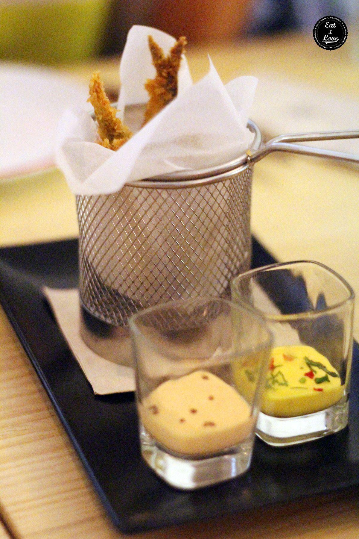 Sardinas con panko en restaurante Navaja Madrid