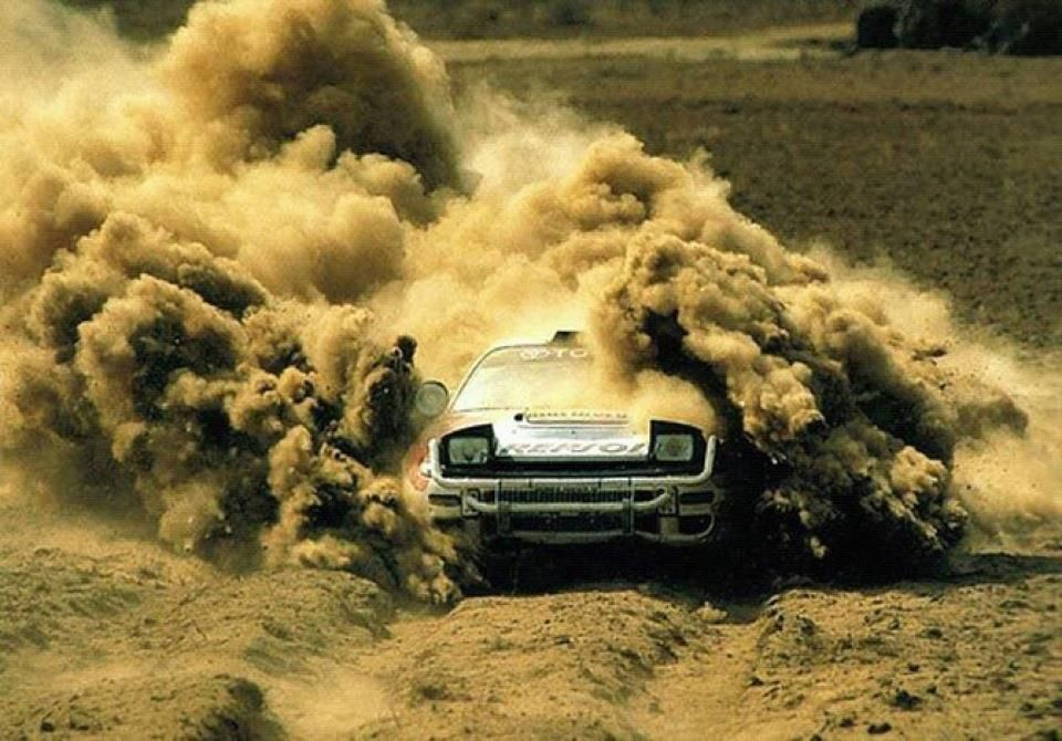 A lot of dirt with a little bit of Celica