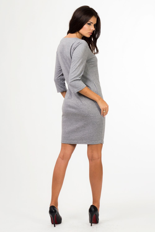 860548ce42  Sukienka  dzienna  plus  size  xl  XXL 40-50  dzianina  Duże  rozmiary   online  sklep  internetowy  z  odzieżą  dla  puszystych  szara  sukienki   do  pracy