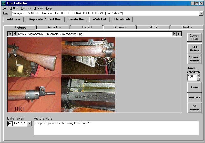 NM Collector Free Gun Inventory Database Software | Free Gun ...