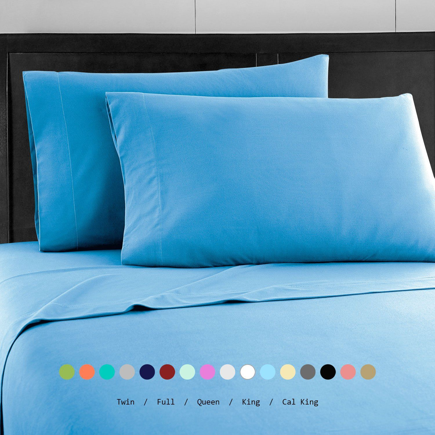 Prime Bedding Bed Sheets   4 Piece California King Sheets, Deep Pocket  Fitted Sheet,